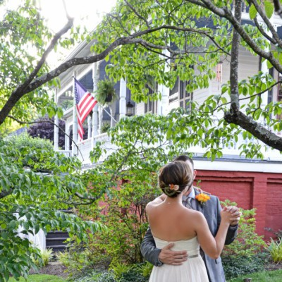 Couple dancing in Virginia after eloping