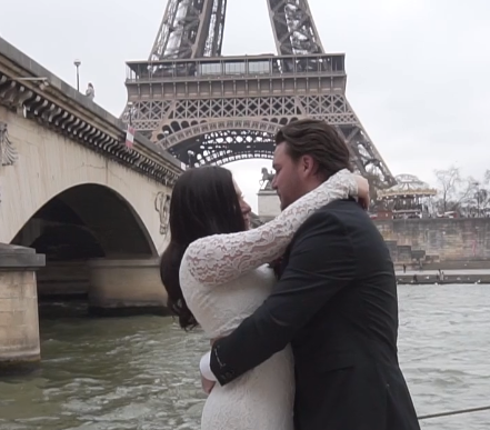 Bride and Groom in Paris, France
